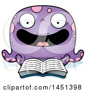Clipart Graphic Of A Cartoon Reading Octopus Character Mascot Royalty Free Vector Illustration by Cory Thoman