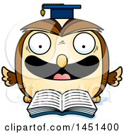 Clipart Graphic Of A Cartoon Reading Graduate Owl Character Mascot Royalty Free Vector Illustration by Cory Thoman