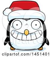 Clipart Graphic Of A Cartoon Christmas Penguin Character Mascot Wearing A Santa Hat Royalty Free Vector Illustration by Cory Thoman