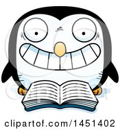 Clipart Graphic Of A Cartoon Reading Penguin Character Mascot Royalty Free Vector Illustration by Cory Thoman