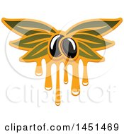 Clipart Graphic Of A Black Olive And Oil Design Royalty Free Vector Illustration by Vector Tradition SM