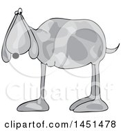 Clipart Graphic Of A Cartoon 3 Legged Dog Royalty Free Vector Illustration