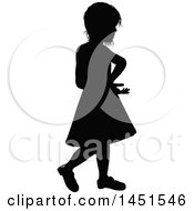Black Silhouetted Little Girl