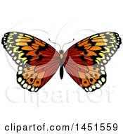 Clipart Graphic Of A Beautiful Butterfly Royalty Free Vector Illustration by AtStockIllustration