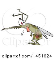 Clipart Graphic Of A Cartoon Crazy Hungry Mosquito Royalty Free Vector Illustration by toonaday