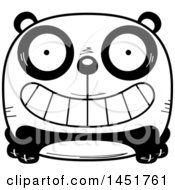 Clipart Graphic Of A Cartoon Black And White Grinning Panda Character Mascot Royalty Free Vector Illustration