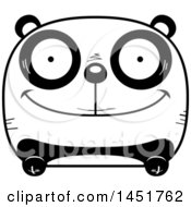 Clipart Graphic Of A Cartoon Black And White Happy Panda Character Mascot Royalty Free Vector Illustration
