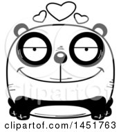 Cartoon Black And White Loving Panda Character Mascot