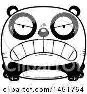 Clipart Graphic Of A Cartoon Black And White Mad Panda Character Mascot Royalty Free Vector Illustration