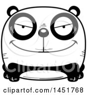 Clipart Graphic Of A Cartoon Black And White Sly Panda Character Mascot Royalty Free Vector Illustration