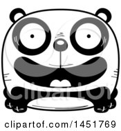 Clipart Graphic Of A Cartoon Black And White Smiling Panda Character Mascot Royalty Free Vector Illustration