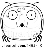 Clipart Graphic Of A Cartoon Black And White Lineart Surprised Ant Character Mascot Royalty Free Vector Illustration