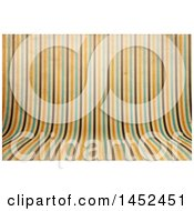 Distressed Curved Striped Background