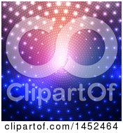 Clipart Of A Disco Lights And Halftone Background Royalty Free Vector Illustration