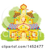 Clipart Of An Ornate Tower Building Royalty Free Vector Illustration