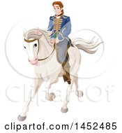 Handsome Prince Riding A White Horse