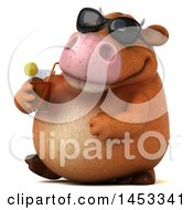 Poster, Art Print Of 3d Brown Cow Character On A White Background