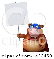 Clipart Graphic Of A 3d Brown Super Cow Character On A White Background Royalty Free Illustration by Julos