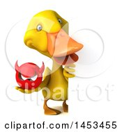 Clipart Graphic Of A 3d Yellow Duck On A White Background Royalty Free Illustration