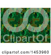 Clipart Of A Green Abstract Background Royalty Free Vector Illustration