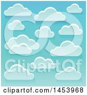 Background Of White Clouds In A Blue Sky