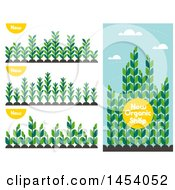Poster, Art Print Of Set Of Agricultural Crop Plants With New Text Icons