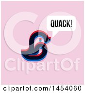 Glitch Effect Quacking Duck Icon On Pink