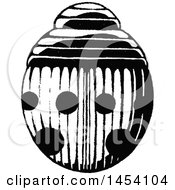 Clipart Of A Black And White Sketched Ladybug Royalty Free Vector Illustration by cidepix