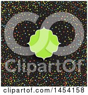 Clipart Graphic Of A Blank Green Frame Over Black With Colorful Stars Royalty Free Vector Illustration