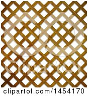 Clipart Graphic Of A 3d Wood Garden Lattice Texture Background Royalty Free Illustration