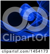 Clipart Graphic Of A Blue Smoke And Black Background Royalty Free Vector Illustration by KJ Pargeter