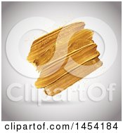 Clipart Graphic Of Golden Paint Strokes On A Shaded Background Royalty Free Vector Illustration