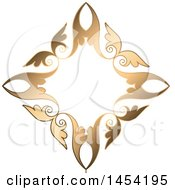 Fancy And Ornate Golden Design Element