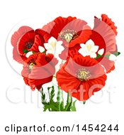 Clipart Graphic Of Red Poppies Royalty Free Vector Illustration by Vector Tradition SM