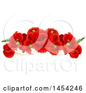 Border Of Beautiful Red Poppies