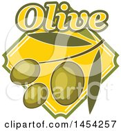 Green Olives Design With Text