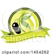 Clipart Graphic Of A Black Olives Design Royalty Free Vector Illustration