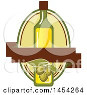 Clipart Graphic Of A Green Olives And Oil Design Royalty Free Vector Illustration by Vector Tradition SM