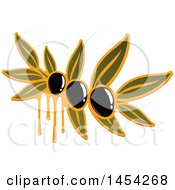 Clipart Graphic Of A Black Olives And Oil Design Royalty Free Vector Illustration by Vector Tradition SM