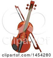 Poster, Art Print Of Violin And Bow