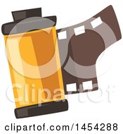 Clipart Graphic Of A Roll Of Film Royalty Free Vector Illustration