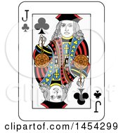 French Styled Jack Of Clubs Playing Card Design
