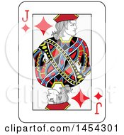 French Styled Jack Of Diamonds Playing Card