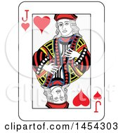 French Styled Jack Of Hearts Playing Card Design