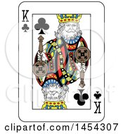 French Styled King Of Clubs Playing Card Design