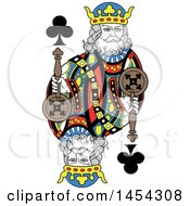 French Styled King Of Clubs Design