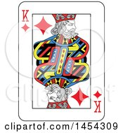 French Styled King Of Diamonds Playing Card Design