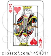 French Styled King Of Hearts Playing Card Design