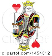 French Styled King Of Hearts Design