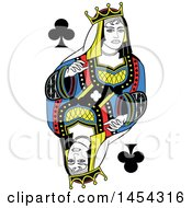 French Styled Queen Of Clubs Design